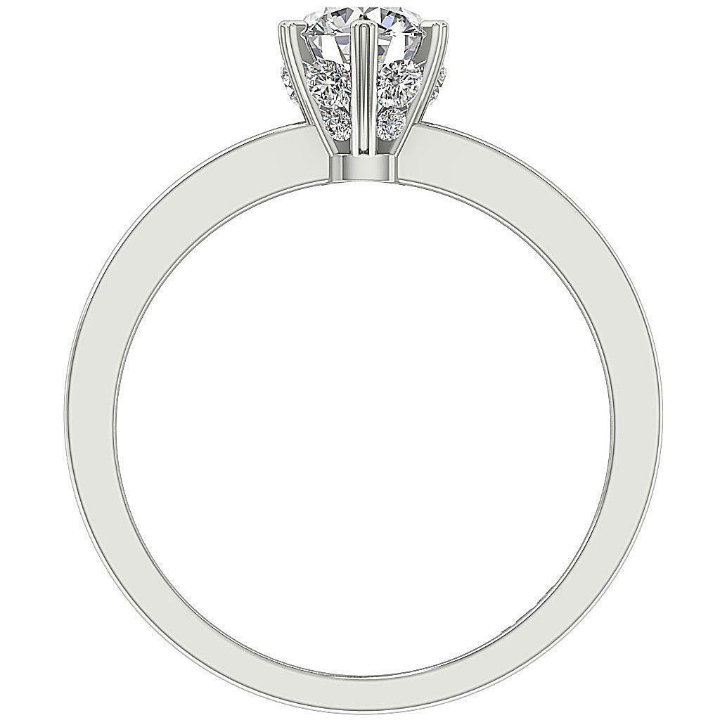 Solitaire Anniversary Round Diamond Ring I1 G 1.10 Ct Six Prong 14K gold SZ 4-12