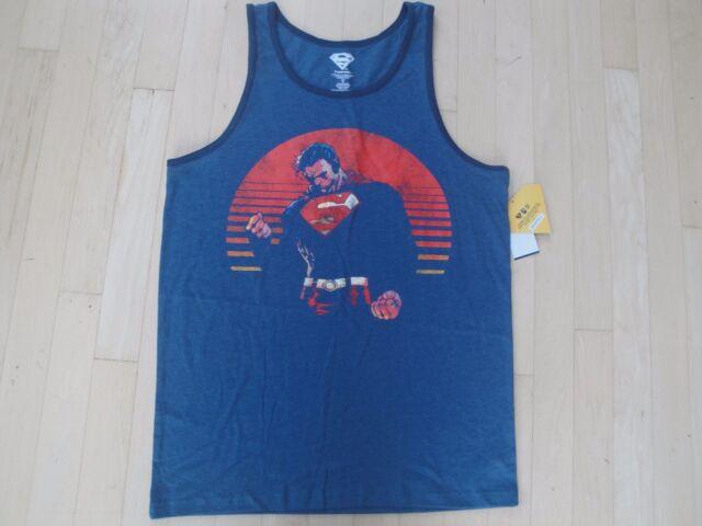 6531d122c86c3c Superman Men s Tank Top Color  Denim Heather Size  Small  20