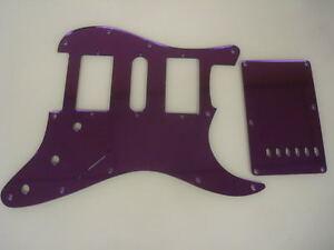 strat stratocaster purple mirror pickguard set fender hsh. Black Bedroom Furniture Sets. Home Design Ideas