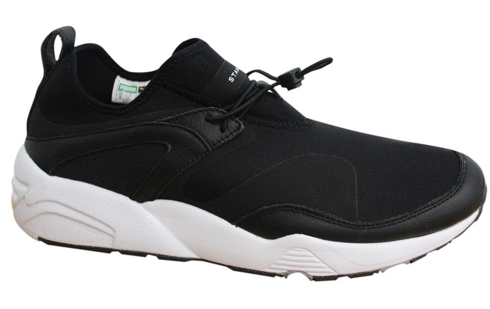 Puma Blaze of Glory NU X Stampd Baskets Homme Noir Blanc Chaussures 361493 02 D11-