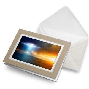 Greetings-Card-Biege-UFO-Alien-Aliens-Space-Area-51-8853