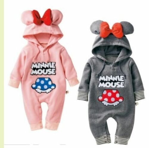 Kids Baby Boy Warm Infant Romper Jumpsuit Bodysuit Hooded Clothes Outfit