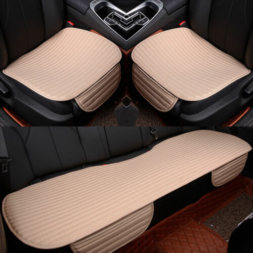 3D Universal Car Seat Cover Breathable PU//Linen Pad Mat for Auto Chair Cushion