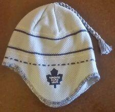 Toronto Maple Leafs NHL Reebok Ear Flap Tassel Knit Beanie Hat