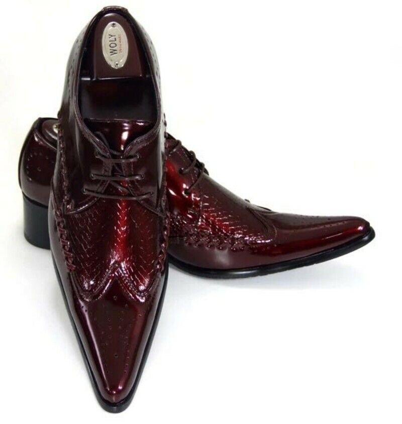 Schnürschuhe Halbschuhe Spitz Herren Schuhe Britischer Stil gut aussehend Alltag