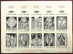 A-V-A-Lucha-contra-la-Tuberculosis-Stamps-1979-80-Uncut-Sheet