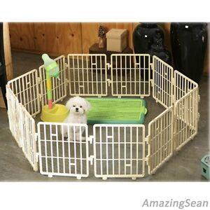 Image is loading Pet-Playpen-8-12-24-Panel-Dog-Fence-