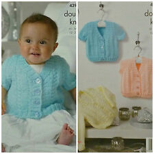 not the finished garments KINGCOLE 4946 Baby DK KNITTING PATTERN  12-20IN