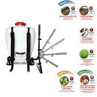 4 Gallon Backpack Sprayer Chemical Poly Tank Bottle Portable Plastic Piston-pump