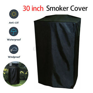 30-Inch Electric Smoker Cover Outdoor Polyester Heavy Duty Waterproof