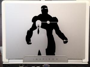 Iron-man-Tony-Stark-Avengers-Marvel-superhero-car-SUV-decal-sticker-8-034-Black