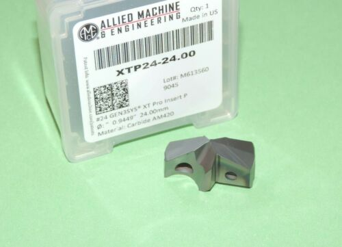 Allied 24mm GEN3SYS XT Pro Carbide Drill Insert AM420 Coated XTP24-24.00