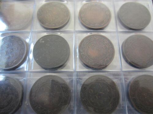1859-1920 Complete Set of Canada Large Cents Coin UNI-Safe Folder.