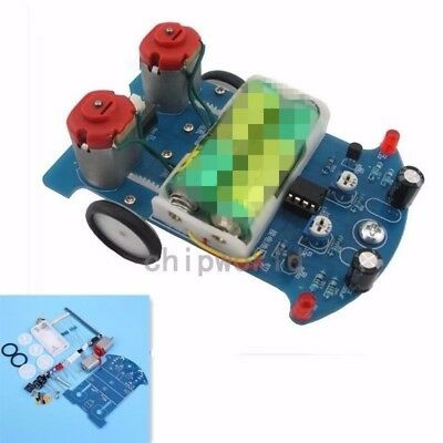 D2-5 Intelligent Tracking Line Smart Car Robot DIY Kits W/ 2 Gears Motor  Gift
