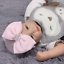 thumbnail 15 - Baby Newborn Soft Striped Hat With Bow Girl Infant Child Beanie Cap Diomand HOT