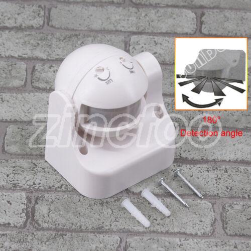 WHITE Best Seller IP44 PIR MOVEMENT SENSOR 180 DEGREE Doorway PIR 200-240V