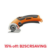 WORX WX081L ZipSnip Cordless 4V Electric Scissors with Self Sharpening NEW Blade