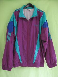 online for sale the latest big discount Détails sur Veste Adidas Toile 90'S Nylon Polyamide Vintage Violet vert  Jacket - 192 / XXL