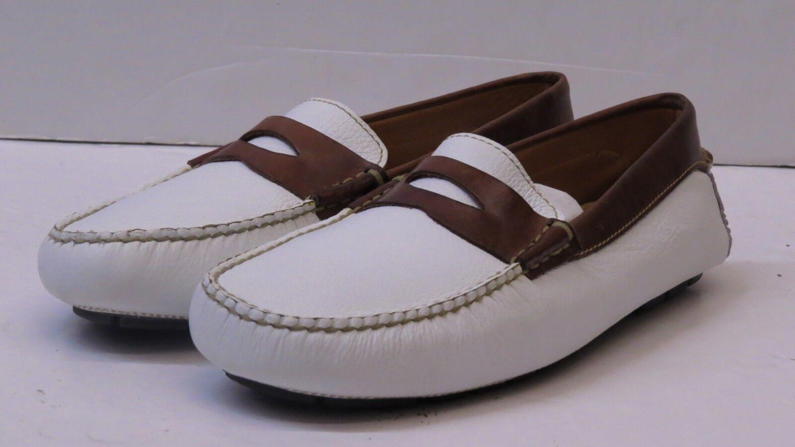 Johnson & Murphy 2006132 White Burman Penny Loafers SIZE 10M