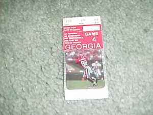 1995 Georgia Bulldogs v Kentucky Football Ticket 10/21 ...