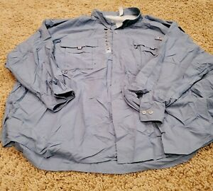 NEW Columbia PFG Men's 5X Blue Fishing Activewear Casual Button Down