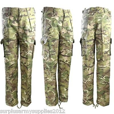 KIDS BLACK BTP COMBAT TROUSERS CHILDRENS ARMY CLOTHING CADET CAMOUFLAGE CARGOS