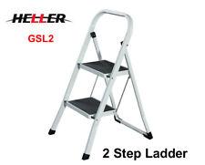 HELLER Portable 2 Step Lightweight/Stool/Folding Non-Slip Foldable Ladder GSL2