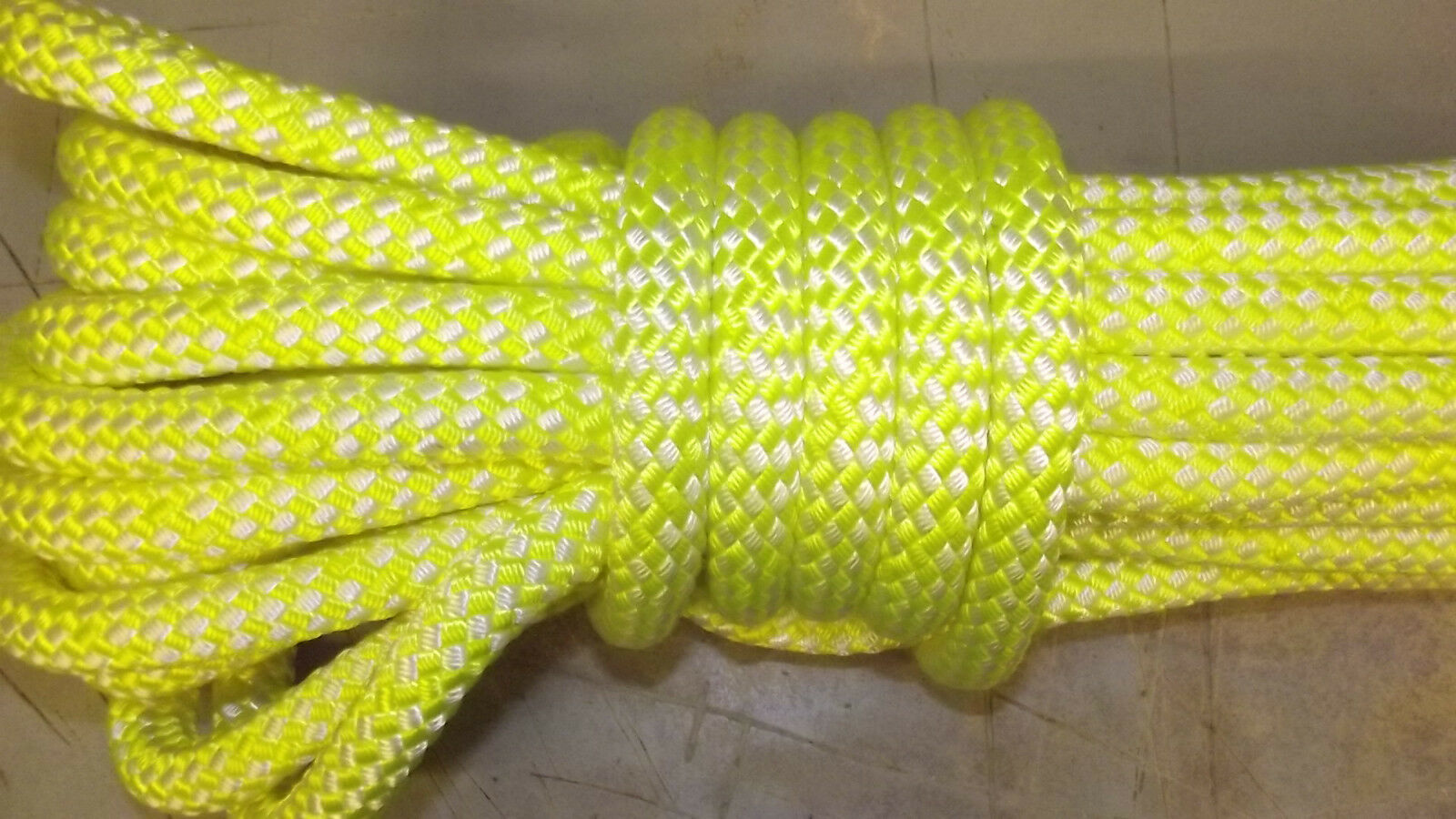 5 8  x 43' Double Braid Rope, Arborist Bull Rope, Rigging Line, Hoist Line, NEW