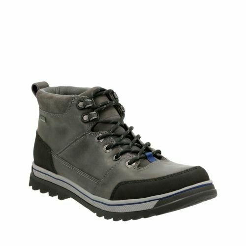 Clarks Mens  Ripway Top Gtx  grau Leather - Hiking-Active Air  UK 8.5   9 G