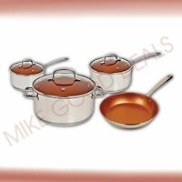Nuwave Induction Ready Ceramic Non Stick 7pcs. Cookware Set.