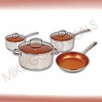 Nuwave Induction Ready Ceramic Non Stick 7pcs. Cookware Set.