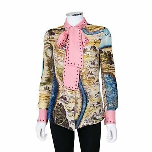 3a270d5b15a3e9 Gucci 'The Lake of Indifference' Pussy Bow Silk Blouse - Size 40 | eBay