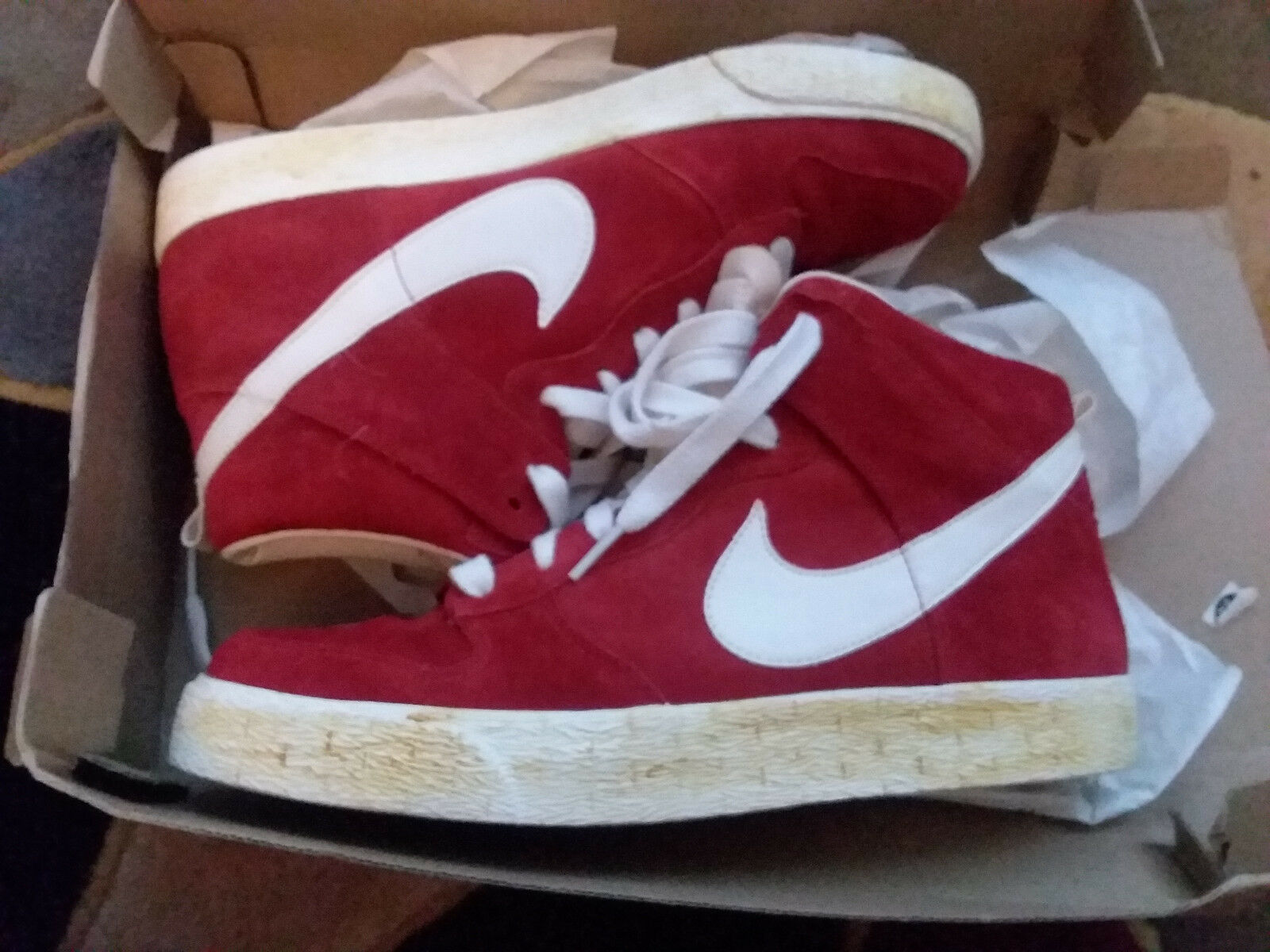best service bc2f7 5f806 ... Nike Dunk High AC Varsity Red Suede Sail QS size size size 9.5 398263-601  ...