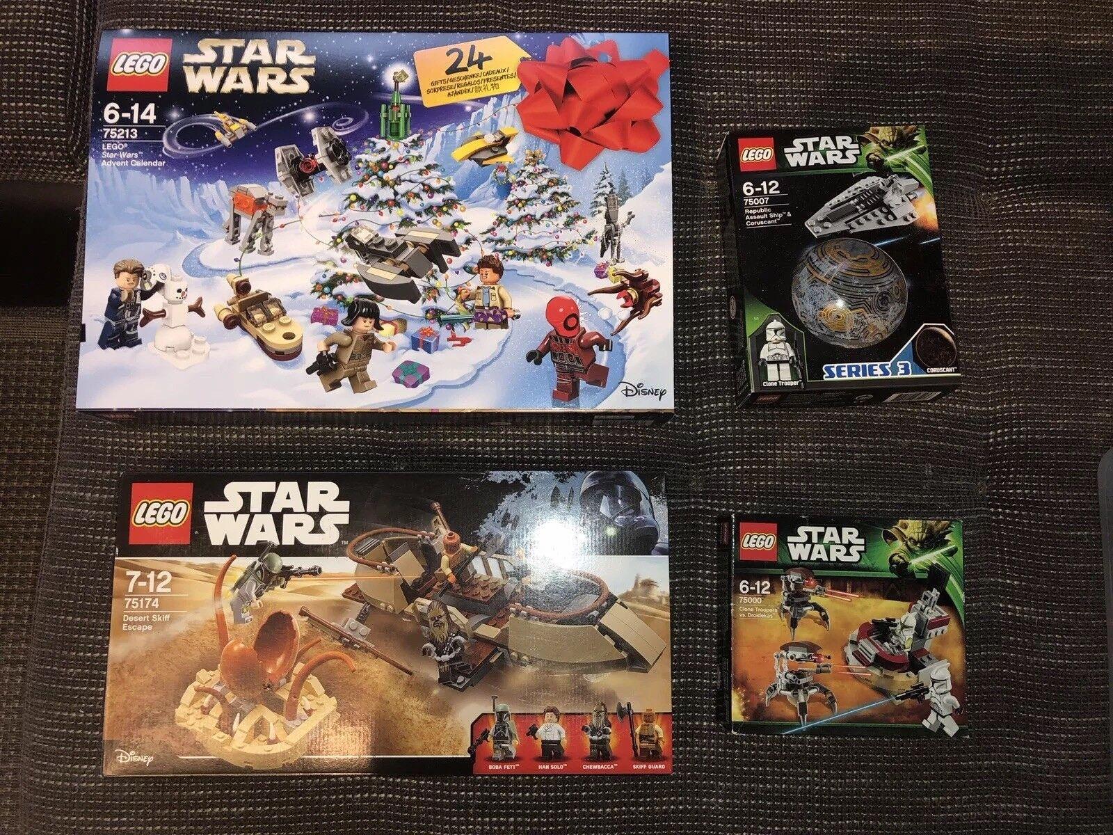 Lego Star Wars - NEU - Adventskalender 75213, 75174, 75007, 75000