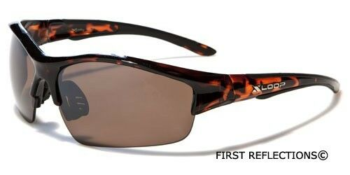 Mens Wrap Around Sport Cycling Baseball Surf Ski Sunglasses Silver Red Brown