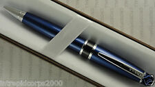 Cross Dalton Midnight Blue Lacquer and Double Cross Signature Mid Bands Ball Pen