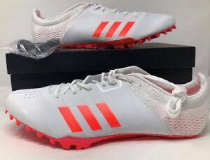 Adidas-adiZero-Prime-Finesse-Track-Cleats-White-Red-Metallic-BB4097-Mens-Sz-13