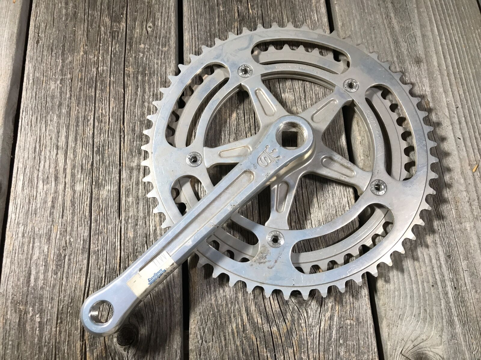 SUGINO MIGHTY COMPETITION CRANKSET DRIVE SIDE 170MM  54 46 144BCD MADE JAPAN NOS  new products novelty items