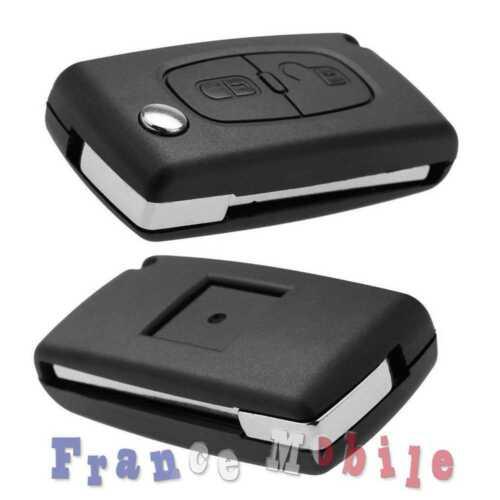 Télécommande Coque CE0523 VA2 Clé PLIP 2 Bouton pour Citroen C2 C3 C4 C5 C6