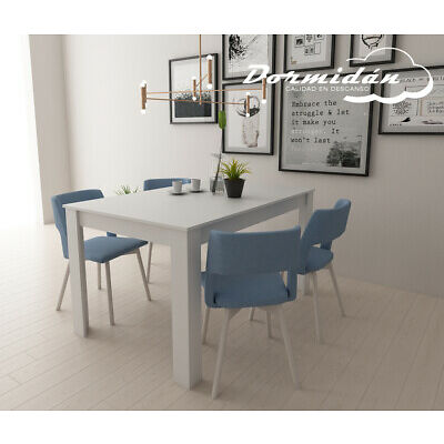 Mesa de comedor extensible, 90cm ( ancho ) x 135cm-185cm ( largo ), mueble salon