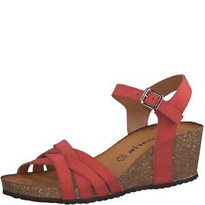 Rote Tamaris Keilabsatz Schuhe