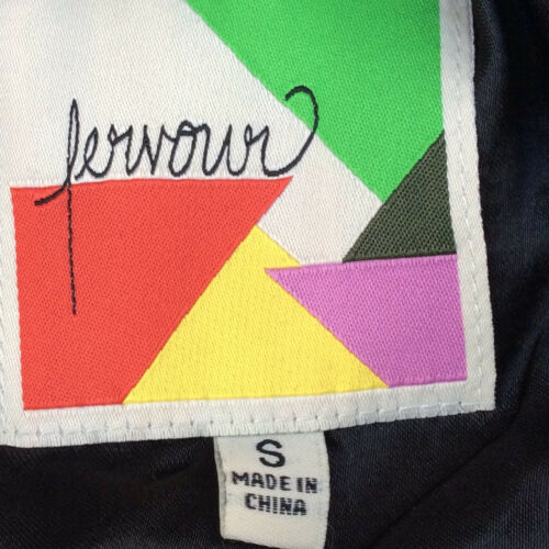 Jurk Vintage Black Fervor Maat Small Look Print wBxxT
