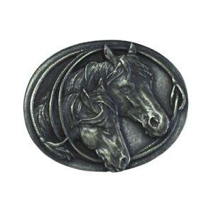 Gürtelschließe Zwei Pferdeköpfe 4,0 Cm Reiten Halfter Trense Reiter Western Unterscheidungskraft FüR Seine Traditionellen Eigenschaften