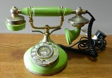 1960's Replica of a 1930's style rotary dial desk top telephone without numbers