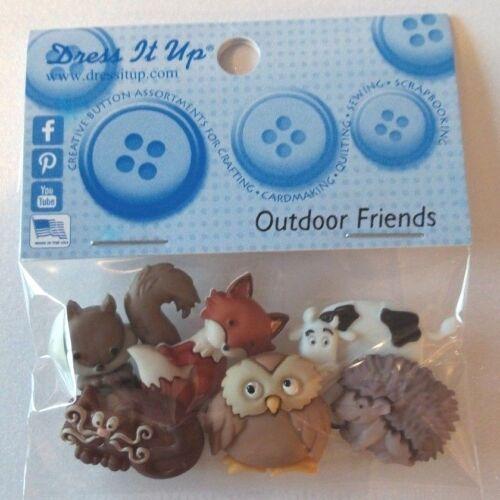 Cute Dress it up Buttons Outdoor Friends Crafts Knitting Scrap booking