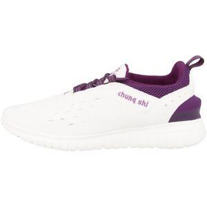 Chung-Shi-Duflex-entrenador-zapatos-zapatillas-zapatillas-White-Indigo-Purple-8800200