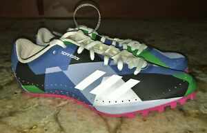 quality design 6b6a9 9d120 Image is loading ADIDAS-SprintStar-Blue-Green-White-Pink-Track-Field-