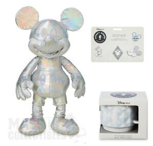 US Store Mickey Memories MARCH Set Plush//Mug//Pins Limited Edition NWT