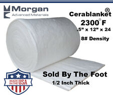 Ceramic Fiber Insulation Blanket Wool High 2400f 12x12x24 8 Cerablanket