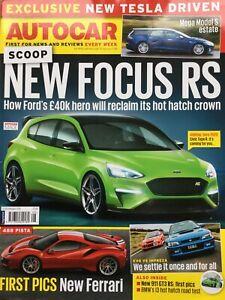 Autocar Magazine - 21 February 2018 - Focus RS BMW i3 DB11 Volante Velar P300
